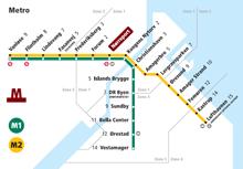 Copenhagen metro system map